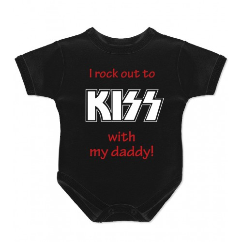 I rock out to Kiss with my daddy Детско боди